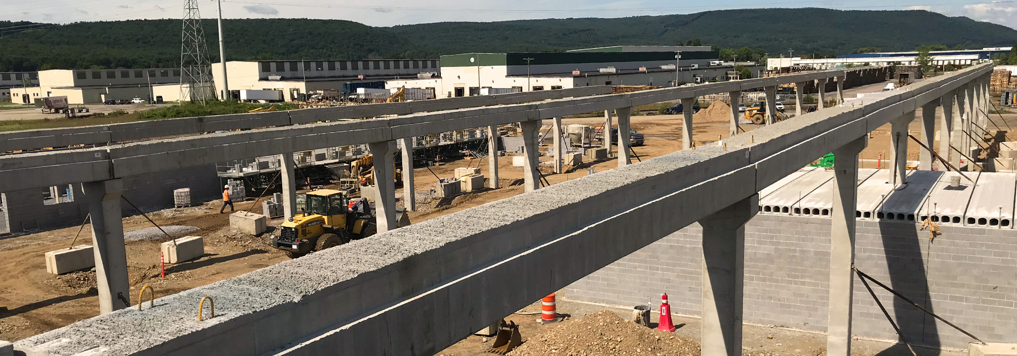 Total precast solutions - drone photograph of installation